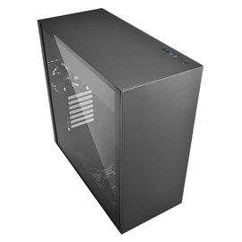 Sharkoon PURE STEEL Temperli Cam USB 3.0 E-ATX Siyah Gaming Kasa