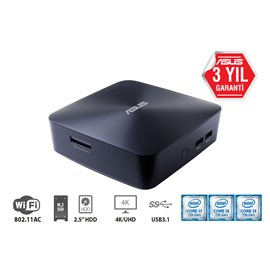 Asus UN65U-M3401M Intel Core i3 7100U 4GB 1TB Freedos Mini PC