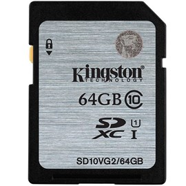 Kingston SD10VG2/64GB SDXC UHS-I Class10 64GB Bellek Kartı 45MB