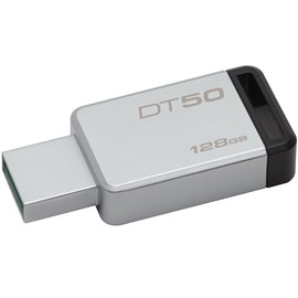 Kingston DT50/128GB DataTraveler 50 128GB Siyah USB 3.1 Metal Usb Bellek