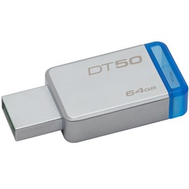 Kingston DT50/64GB DataTraveler 50 64GB Mavi USB 3.1 Metal Usb Bellek