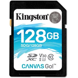 Kingston SDG/128GB Canvas Go! 128GB SDXC Bellek Kartı 90/45MB Class 10 UHS-I U3