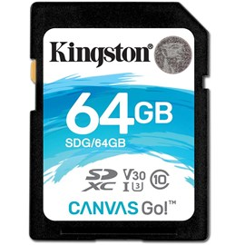 Kingston SDG/64GB Canvas Go! 64GB SDXC Bellek Kartı 90/45MB Class 10 UHS-I U3