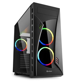 Sharkoon NIGHT SHARK RGB Pencereli Siyah E-ATX Gaming Kasa