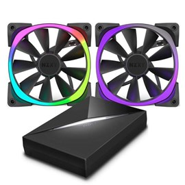 NZXT RF-AR140-C1 Aer RGB140 & HUE+ 2x 140mm Fan ve HUE+ Starter Kit