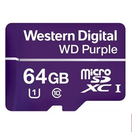 Western Digital WDD064G1P0A Purple microSDXC 64GB C10 U1 100MB Surveillance