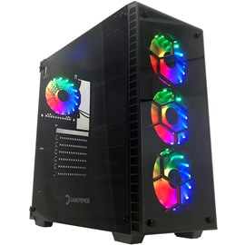 Gamepower Horizon Tempered Glass 4x RGB Fan Gaming E-ATX Kasa PSUsuz