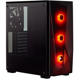 Corsair CC-9011166-WW Carbide SPEC DELTA RGB Temperli Cam Gaming Siyah Kasa ATX PSUsuz