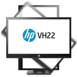 "HP X0N05AA VH22 21.5"" 5ms HDMI DVI DP Pivot Siyah Led Monitör"