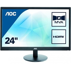 "AOC M2470SWH 23.6"" 5ms Full HD HDMI D-Sub MVA Led Siyah Monitör"