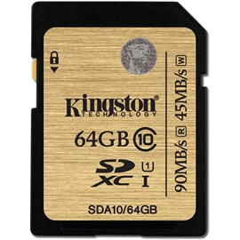 Kingston SDA10/64GB 64GB Class 10 UHS-I Ultimate SDXC 90/45MB/s Bellek Kartı