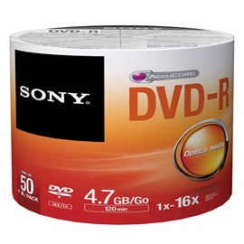 Sony 50DMR47SB 16x DVD-R 4.7GB 50 Li Shrink