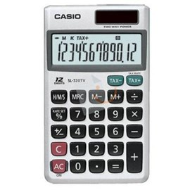 Casio SL-320TV-W-DP(PH) 12 Hane Cep Tipi Hesap Makinesi