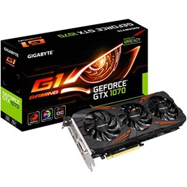 Gigabyte GV-N1070G1 GAMING-8GD GeForce GTX 1070 G1 Gaming 8GB GDDR5 256Bit 16x