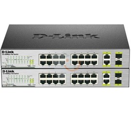 D-Link DES-1018MP 16x10/100 PoE + 2x10/100/1000BASE-T/SFP Combo Yönetilemez Switch