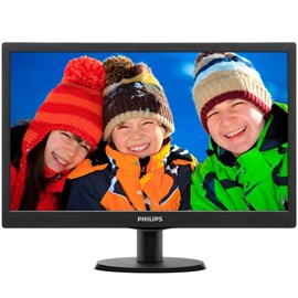 "Philips 203V5LSB26/10 19.5"" 5ms HD+ D-Sub Siyah Led Monitör"