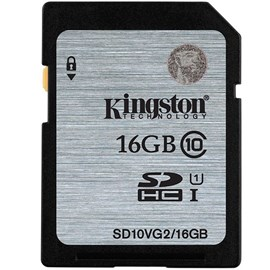 Kingston SD10VG2/16GB SDHC UHS-I Class10 16GB Bellek Kartı 45MB