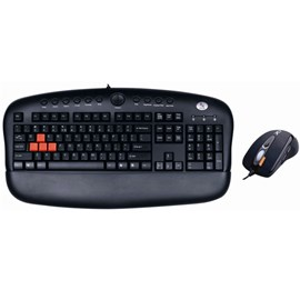 A4 Tech KX-2810BK Gamer Q TR Multimedya Klavye Mouse Siyah