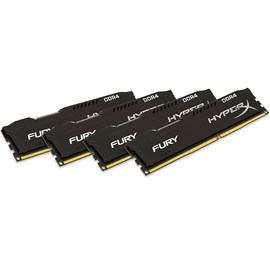 HyperX HX426C15FBK4/16 Fury Black 16GB (4x4GB) 2666MHz DDR4 CL15 Quad Kit