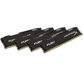 HyperX HX424C15FBK4/16 Fury Black 16GB (4x4GB) 2400MHz DDR4 CL15 Quad Kit