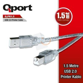 QPort Q-PR1.5 Usb 2.0 Printer Kablosu 1.5 mt