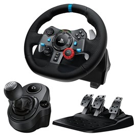 Logitech G29 Racing Wheel Direksiyon PC/PS3/PS4 941-000112 ve Driving Force Shifter Birlikte