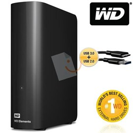 Western Digital WDBWLG0030HBK-EESN Elements Desktop 3TB Usb 3.0/2.0 3.5 Disk