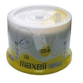 MAXELL 624006 Printable CD-R 52X 700mb 50'li Cakebox
