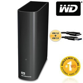 Western Digital WDBWLG0040HBK-EESN Elements Desktop 4TB Usb3.0/2.0 3.5 Disk