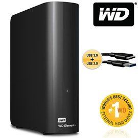 "Western Digital WDBWLG0040HBK-EESN Elements Desktop 4TB Usb3.0/2.0 3.5"" Disk"