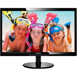 "Philips 246V5LAB/01 24"" 5ms Full HD DVI Hoparlör Siyah Led Monitör"