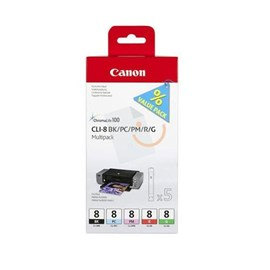 Canon CLi-8 BK/PC/PM/R/G Multi Pack Kartuş IP3300 IP4500 MP810 MX850