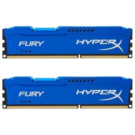 HyperX HX316C10FK2/16 Fury Blue 16GB Kit (2x8GB) 1600MHz DDR3 CL10 PnP Dual Kit