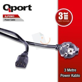 QPort Q-POW3  Power Kablosu 3 mt