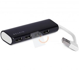 Belkin F4U042QEBAPL 4 Port USB 2.0 Siyah Mini Travel Hub