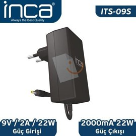Inca ITS-09S 9V 2A Universal Tablet Şarj Adaptörü