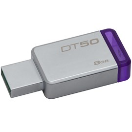 Kingston DT50/8GB DataTraveler 50 8GB Mor USB 3.1 Metal Usb Bellek