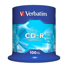 Verbatim 43411 CD-R 52X 700MB 100 Lü Spindle