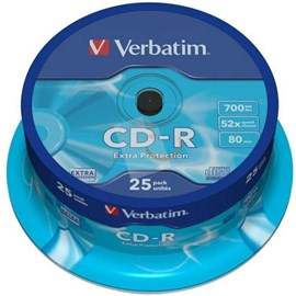 Verbatim 43432 CD-R Extra Protection 52x 700MB 25 Li Spindle