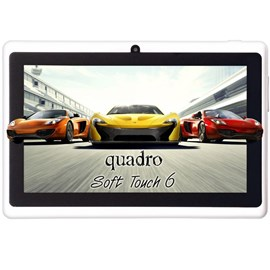 "Quadro Soft Touch 6 Quad Core 1.33GHz 8GB 7"" Dual Cam Android Tablet"