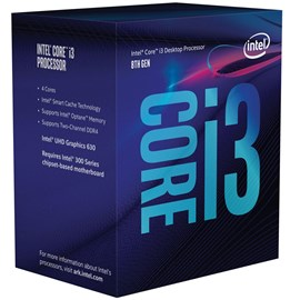 Intel Core i3-8100 Coffee Lake 3.60GHz 6MB UHD 630 Vga Lga1151 İşlemci