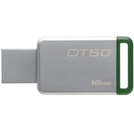 Kingston DT50/16GB DataTraveler 50 16GB Yeşil USB 3.1 Metal Usb Bellek