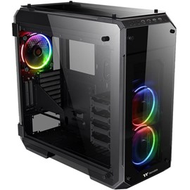 Thermaltake CA-1I7-00F1WN-01 View 71 RGB TG E-ATX Full Tower Siyah Gaming 4 Camlı Kasa