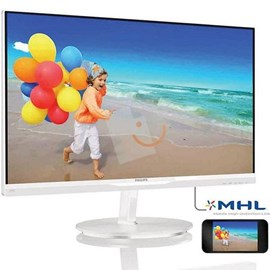 "Philips 234E5QHAW/00 23"" 5ms Full HD D-Sub MHL HDMI AH-IPS Ultra İnce Beyaz Led Monitör"