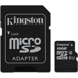 Kingston SDCS/16GB Canvas Select 16GB microSDHC C10 UHS-I 80MB Bellek Kartı