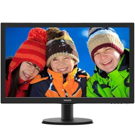 "Philips 243V5LHAB5/01 23.6"" 1ms Full HD HDMI DVI Hoparlör Led Monitör"