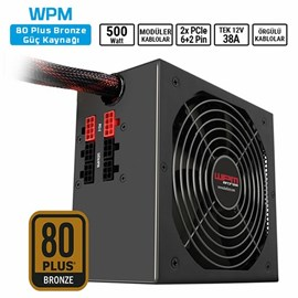 Sharkoon WPM500 500W 80+ Bronze ATX Modüler PSU