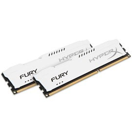 HyperX HX318C10FWK2/8 Fury White 8GB (2x4GB) 1866MHz DDR3 CL10 PnP Dual Kit