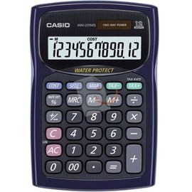 Casio WM-220MS WE 12 Hane Masaüstü Hesap Makinesi