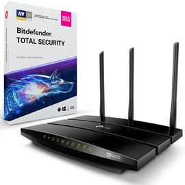 TP-LINK Archer VR400 AC1200 Modem Router ve Bitdefender Total Security